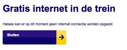 Gratis internet trein