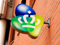 KPN logo aan muur